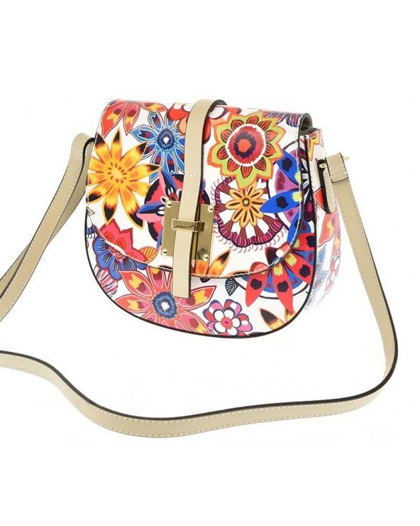 Bardzo kobieca listonoszka w kwiaty vera pelle kolorowa