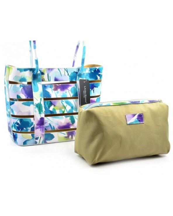 Kwiecista włoska torebka na ramię vera pelle