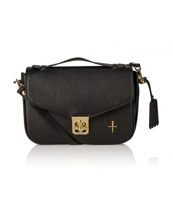 Skórzany kuferek Alessandra torebka Gawor czarna