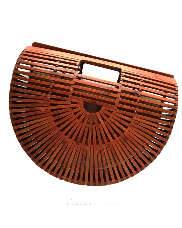 Torebka koszyk a'la Gaia średni brązowy