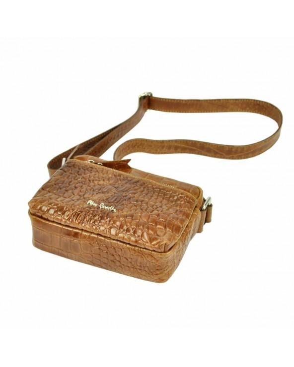 Listonoszka torebka Pierre Cardin skóra krokodyla spód