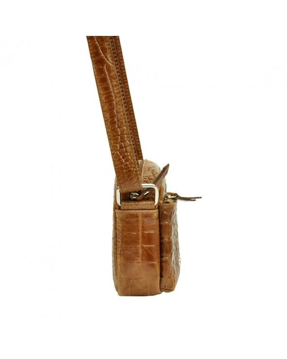 Listonoszka torebka Pierre Cardin skóra krokodyla bok