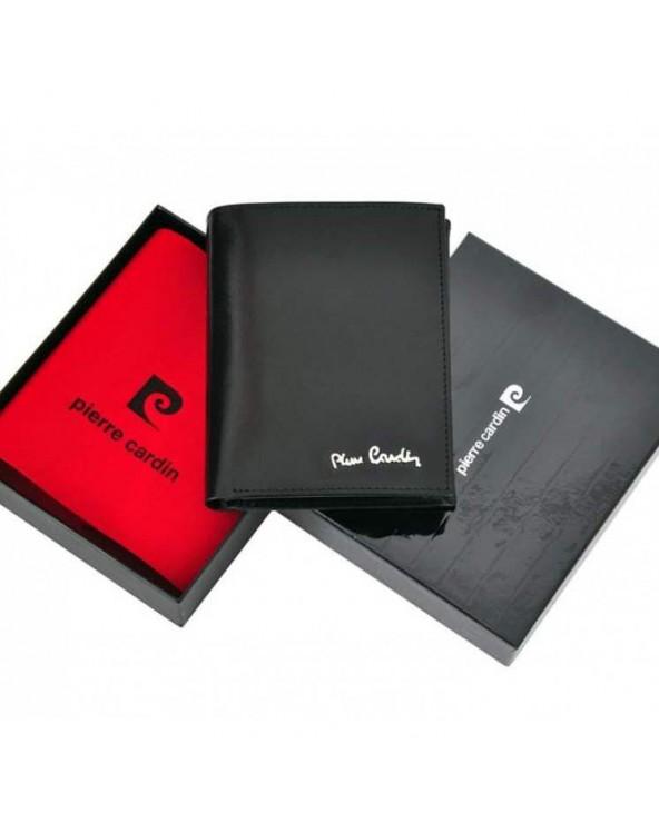 Klasyczny skórzany portfel męski Pierre Cardin
