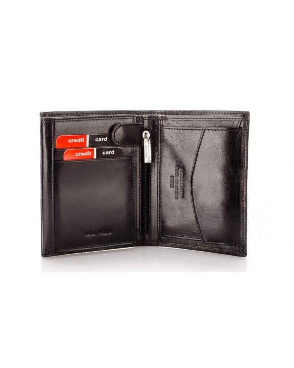 skórzany portfel męski Pierre Cardin wnętrze