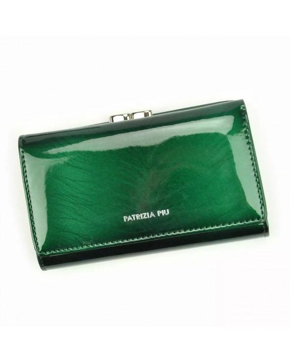 Damski portfel skórzany Patrizia Piu zielony na bigiel