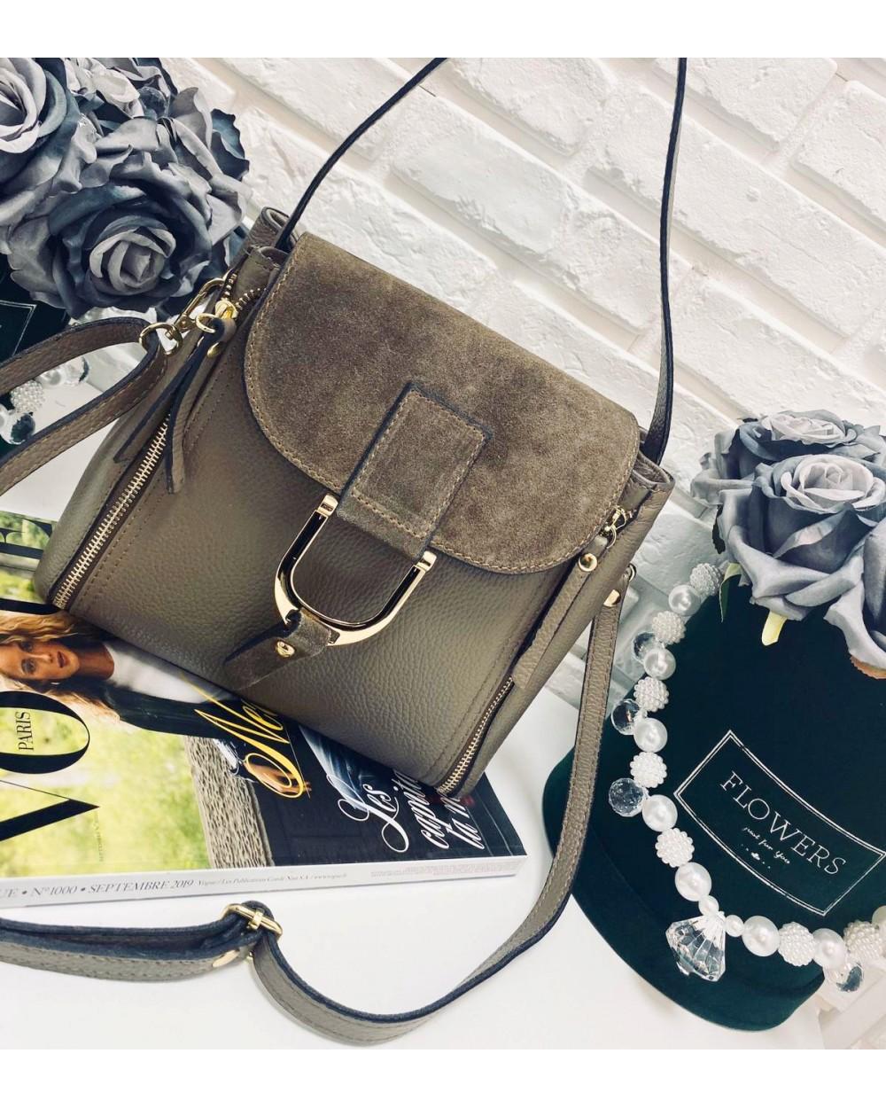 Włoska torebka kuferek listonoszka a'la Chloe taupe