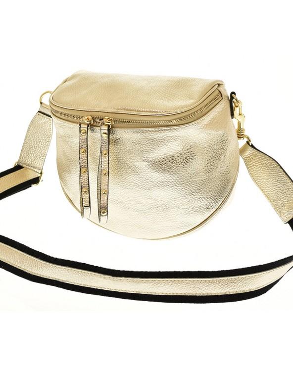 złota torebka saszetka nerka a'la Balenciaga na szerokim pasku