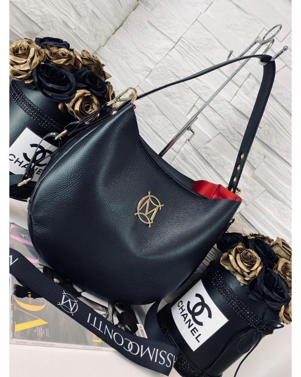Massimo Contti torba shopper czarna z kieszenią w Bona