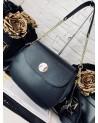 Ekskluzywna torebka skórzana Massimo Contti czarna