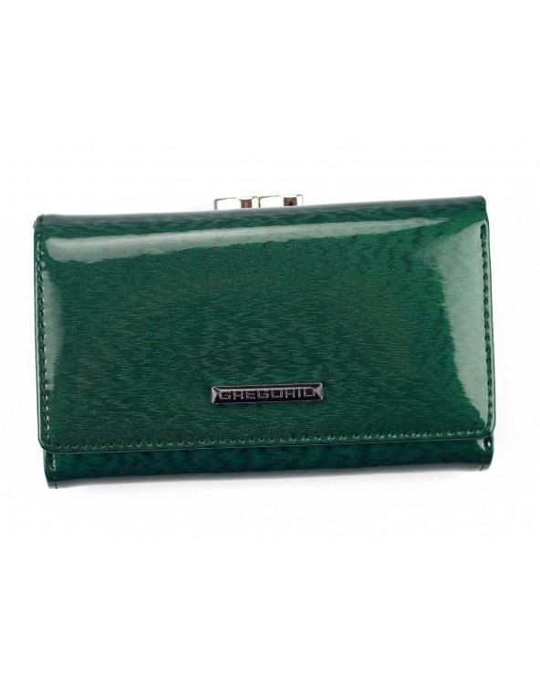 Damski portfel skórzany Gregorio zielony