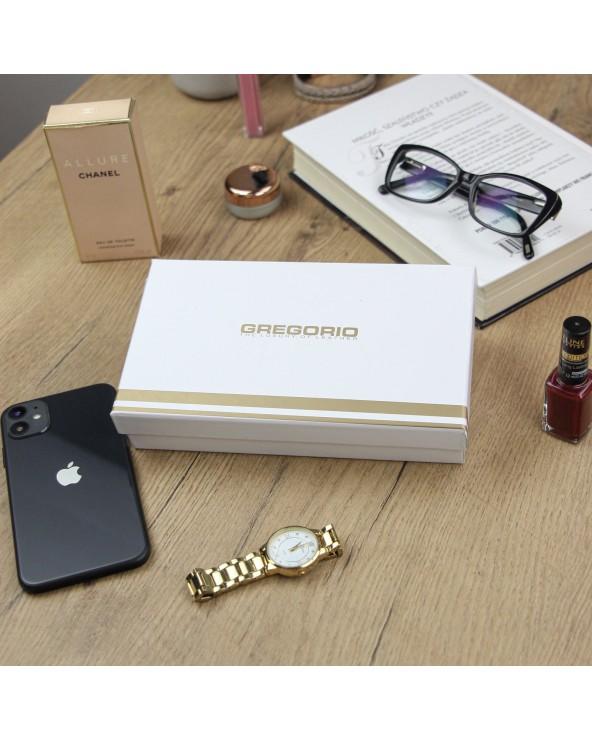 Damski portfel skórzany Gregorio  pudełko na prezent