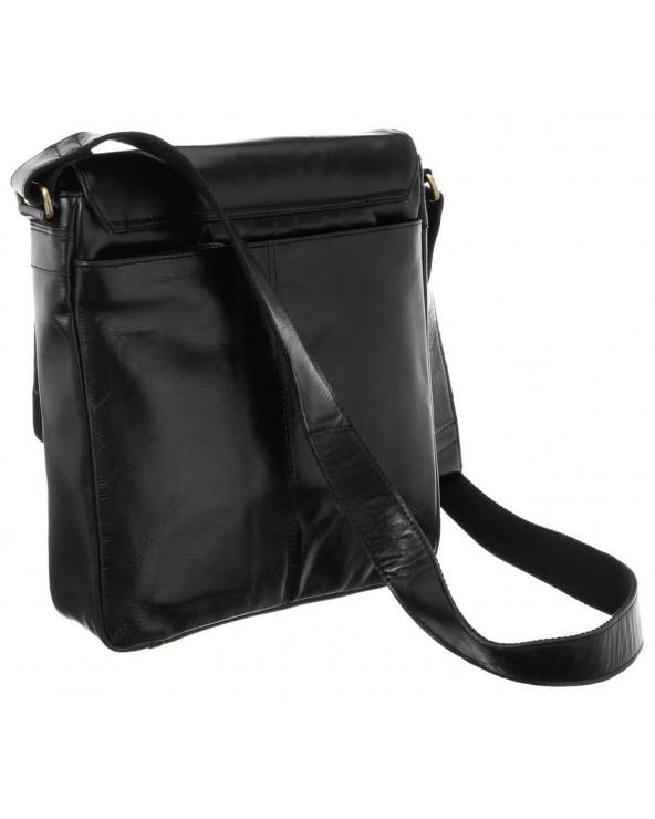 Męska torba skórzana Rovicky czarna raportówka tył 788-CCVT BLACK