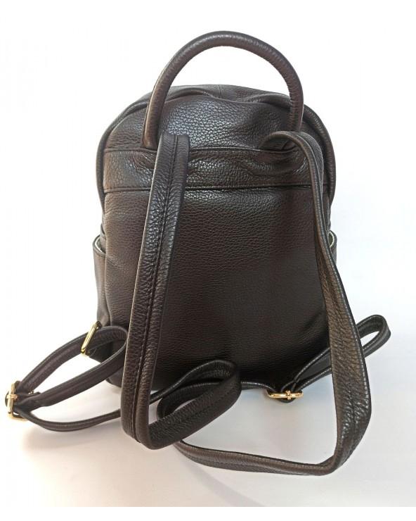 tył szelki Plecak damski z suwakami Massimo Contti czarny