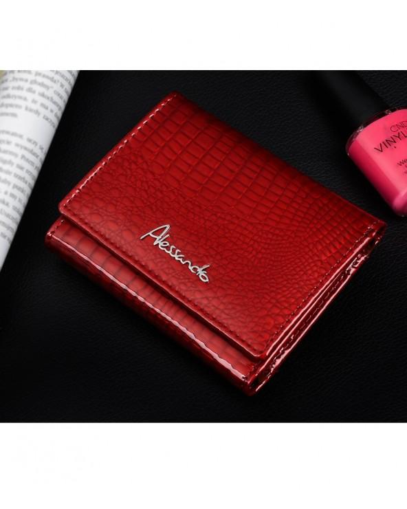 Mały damski portfel skórzany Alessandro Paoli