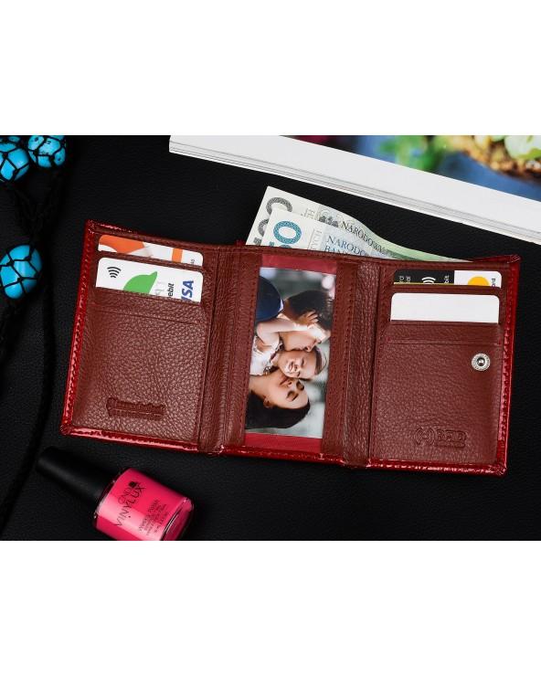 wnętrze Mały damski portfel skórzany Alessandro Paoli srebrny