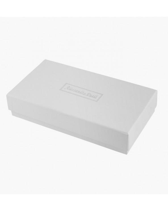 pudełko Mały damski portfel skórzany Alessandro Paoli srebrny