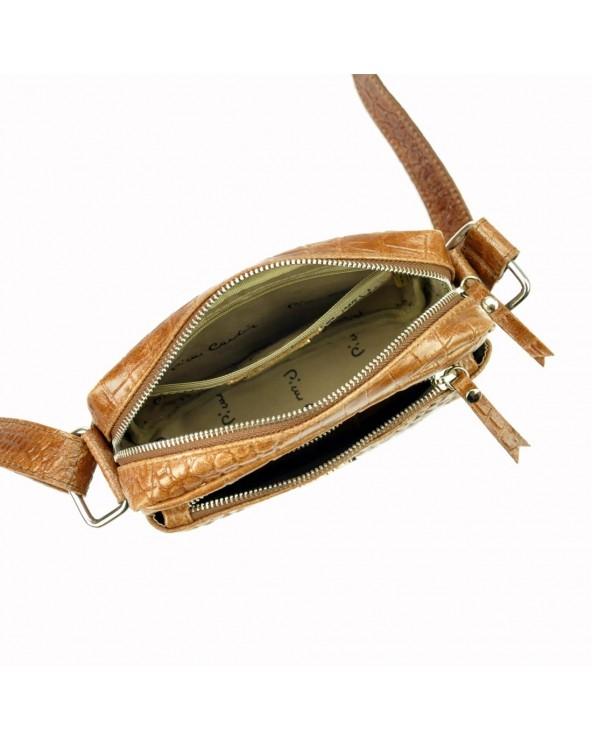 Listonoszka torebka Pierre Cardin skóra krokodyla wnętrze
