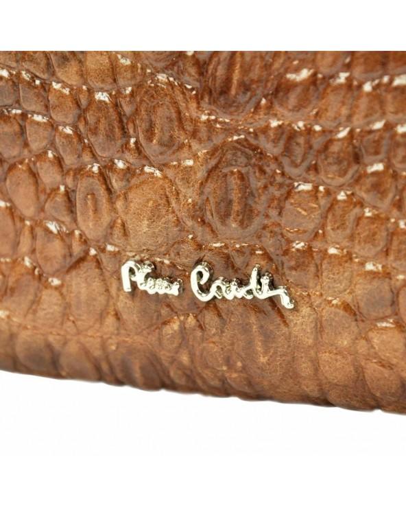 Listonoszka torebka Pierre Cardin skóra krokodyla logo