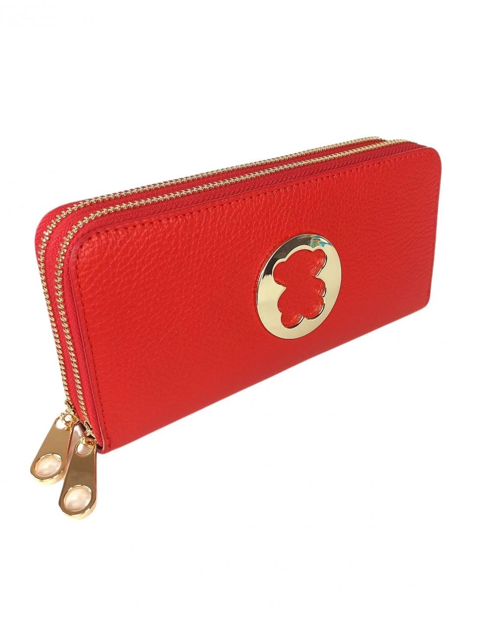 portfel Miś tous 2 suwaki czerwony