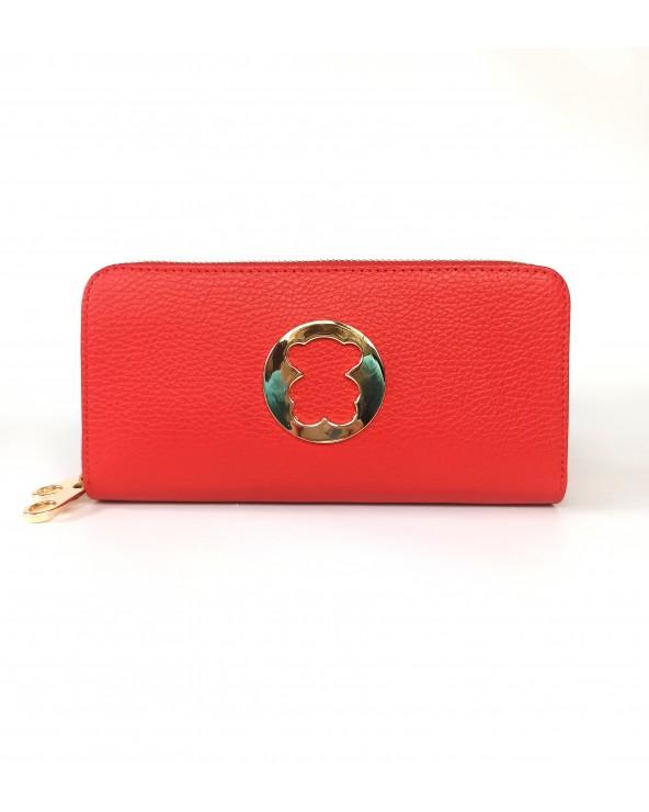 damski portfel mis z misiem tous czerwony skorzany