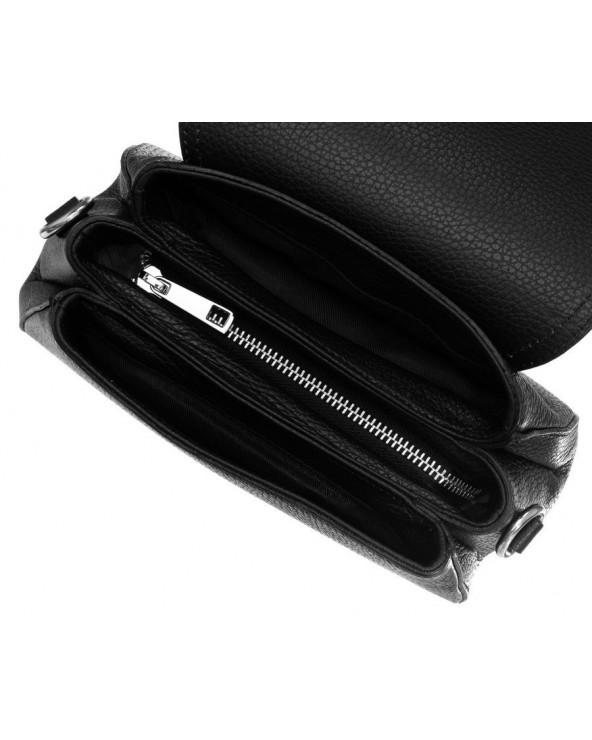 wnętrze damska listonoszka z klapką torebka Badura czarna