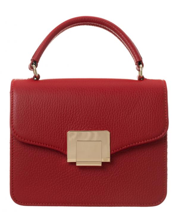 Badura czerwona elegancka listonoszka z klapką