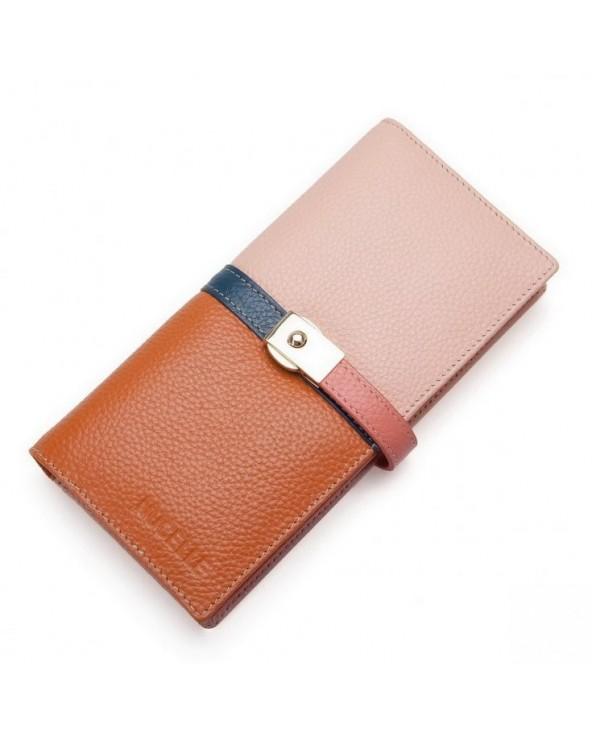 Długi tęczowy portfel
