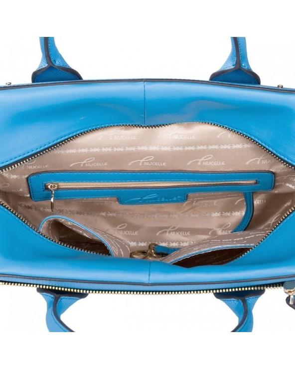 Modna geometryczna torebka skórzana