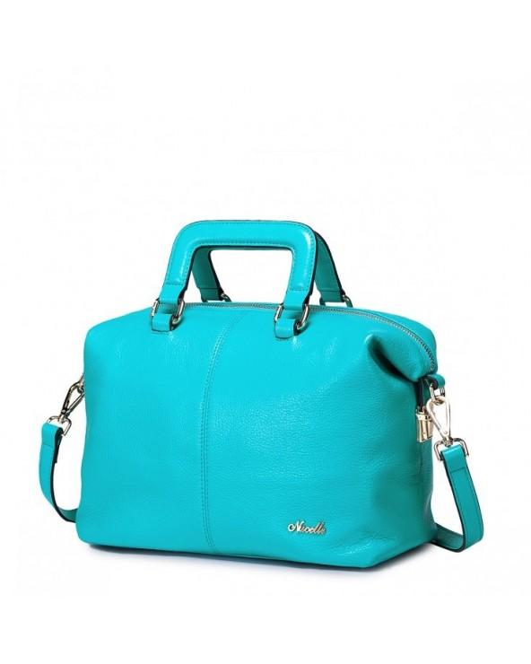 Damska torebka z prawdziwej skóry niebieska