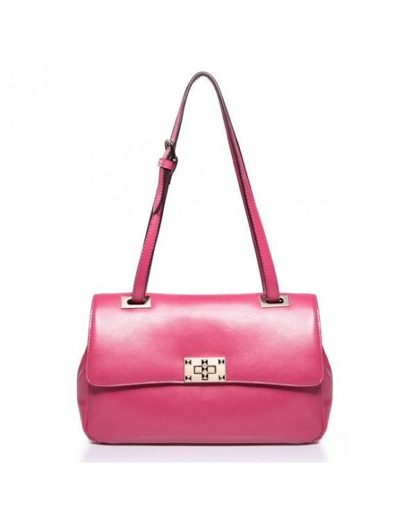Klasyczna torba na ramię róż rubinowy