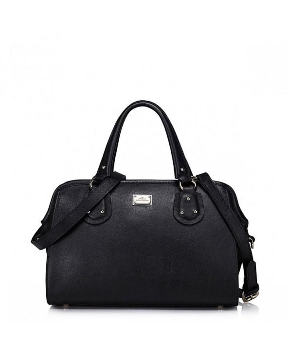 Nucelle skórzana damska torebka czarna