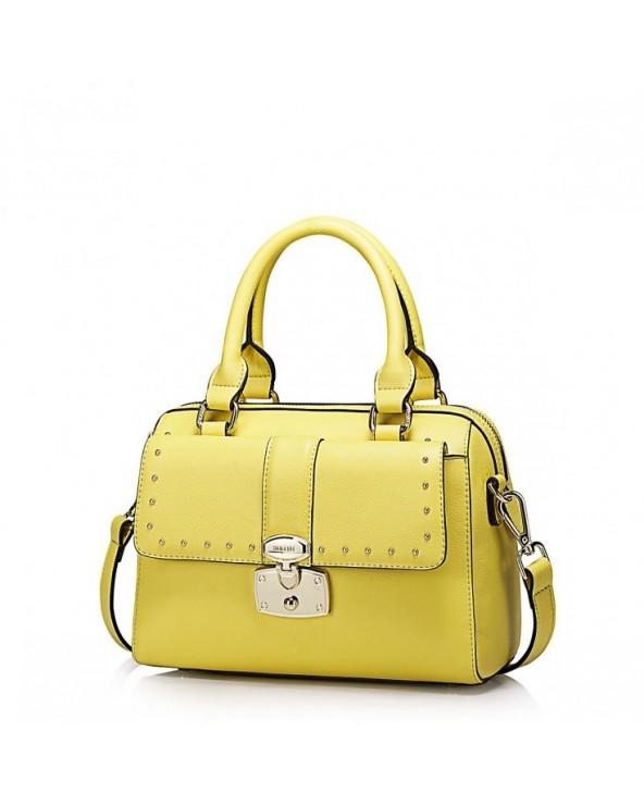Praktyczna i modna damska torebka Żółta