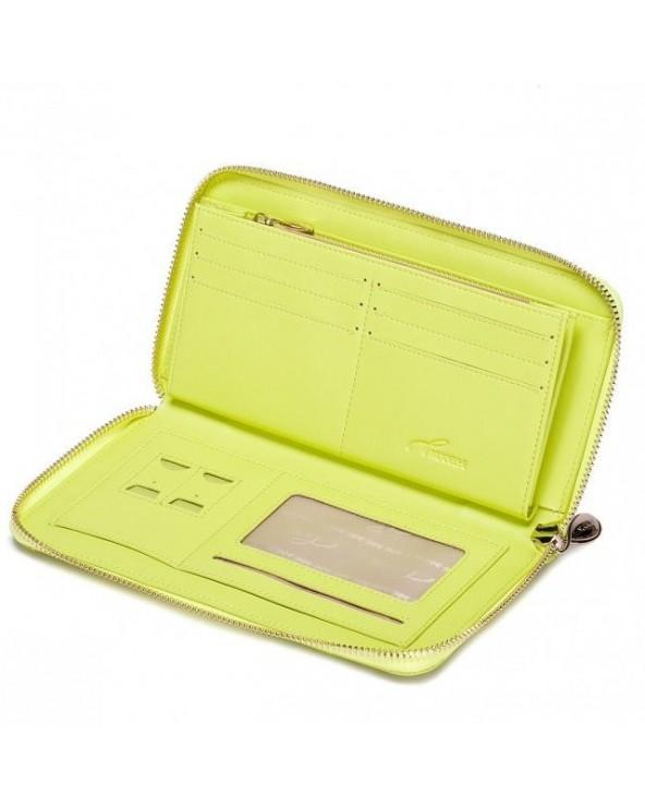 Klasyczny damski portfel pikowana kopertówka