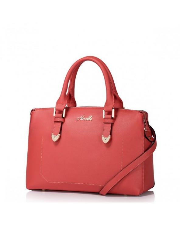 NUCELLE Wysokiej jakości damska torebka do ręki Różowa